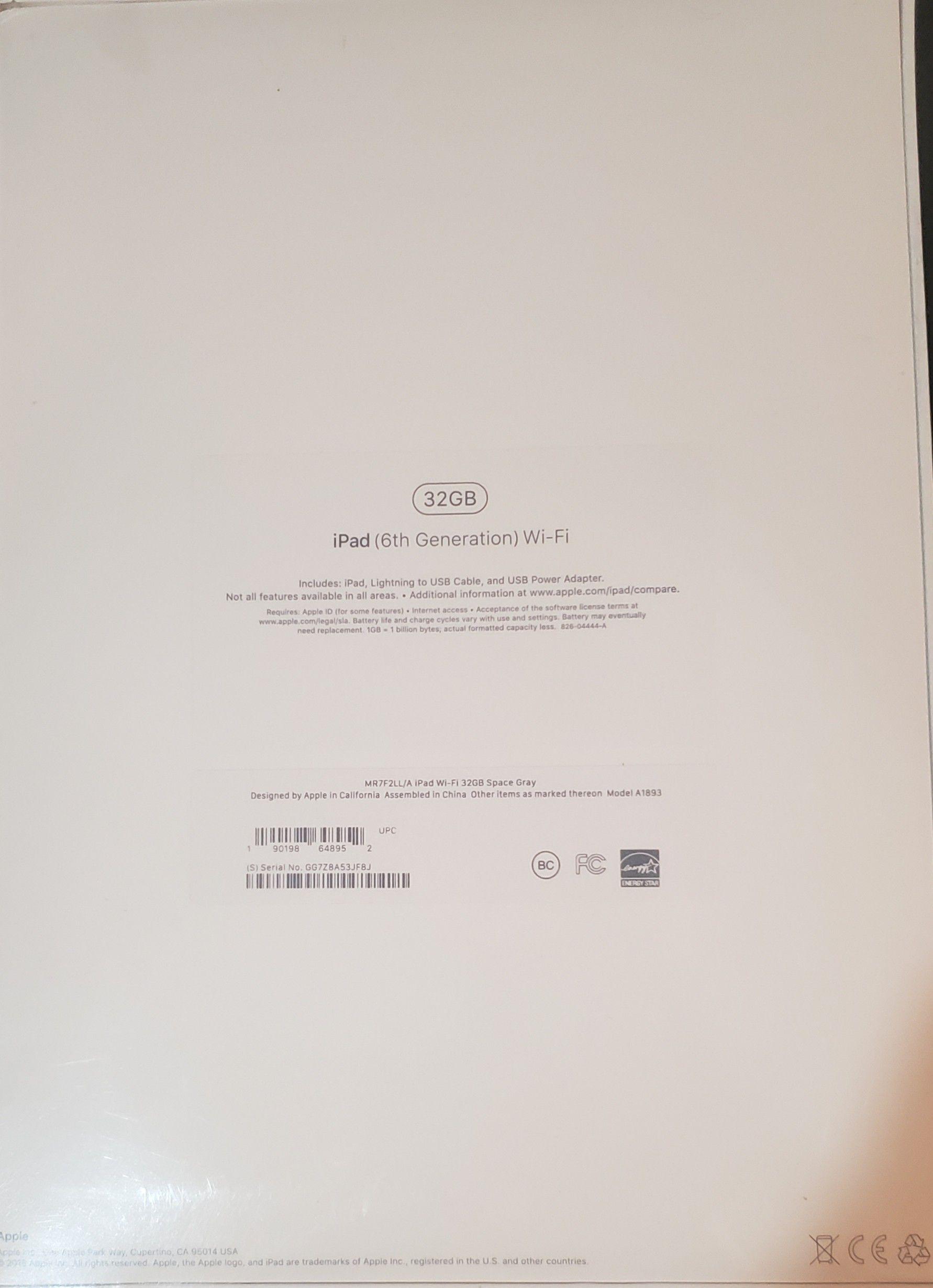 6th Generation iPad-32GB Space Gray Wifi