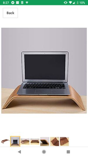 Desktop Computer/Laptop Wooden Stand Holder Walnut for Sale in San Diego, CA