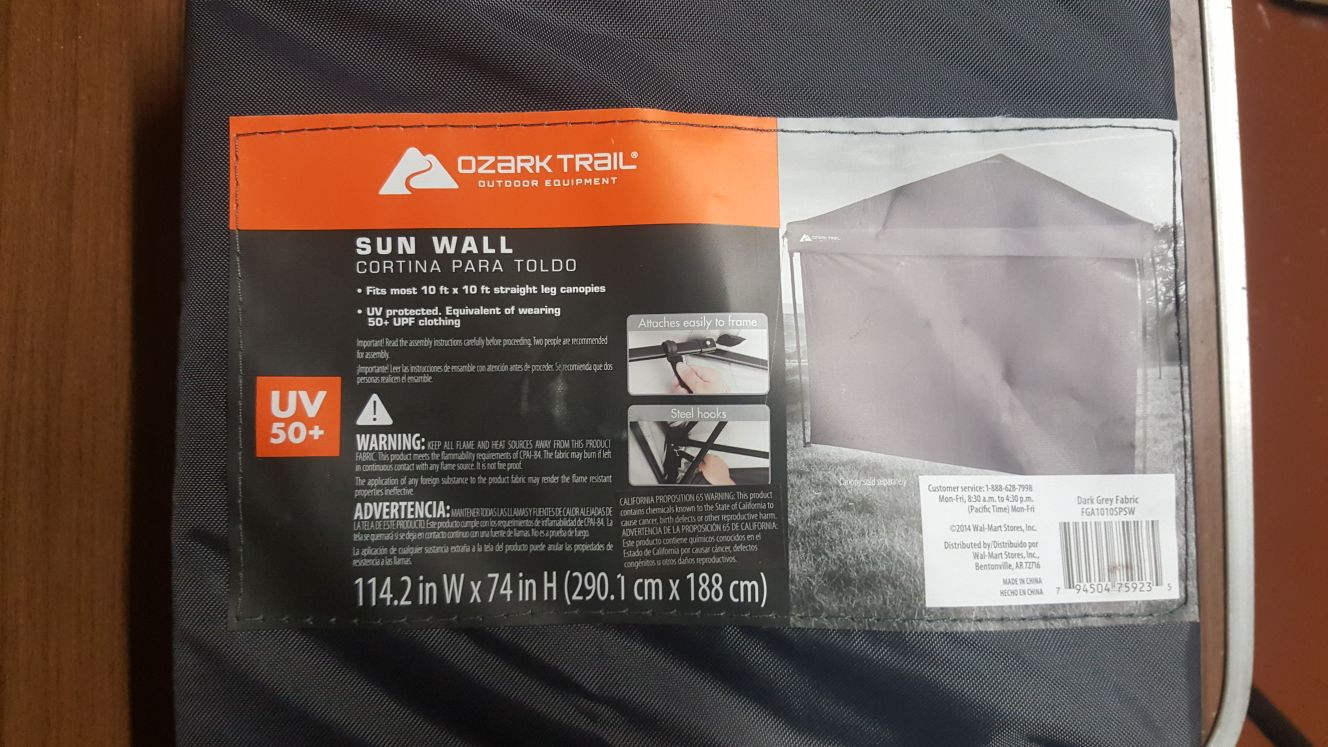 Ozark trail sun wall