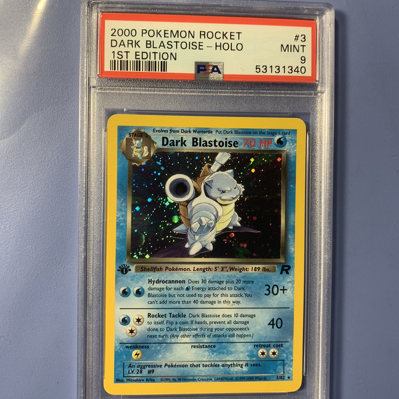 Psa 9 Dark Blastoise Holo Rocket Pokémon Fresh Grade