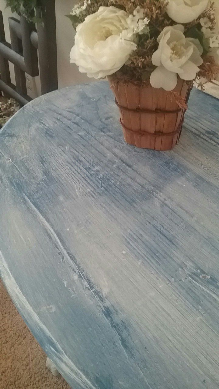 Rustic entry side table