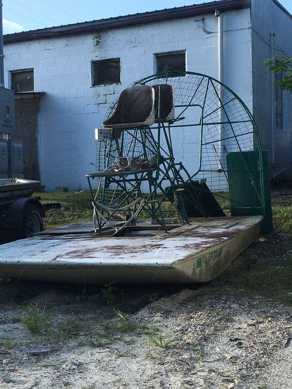 12ft x 7ft step hull sled air boat for Sale in Old Town, FL - OfferUp