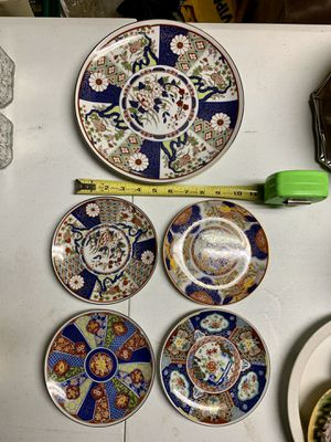 Photo Pick up today 5 piece collectible dish set made in Japan, $20, pick up in Monroeville