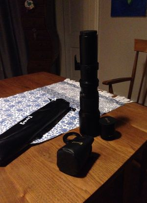 Opteka 500/1,000mm Super Telephoto Lens for Sale in Scituate, MA