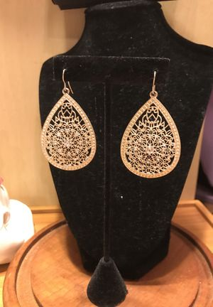 Gorgeous!!! Silver Diamond Crystal Earrings for Sale in Gainesville, VA