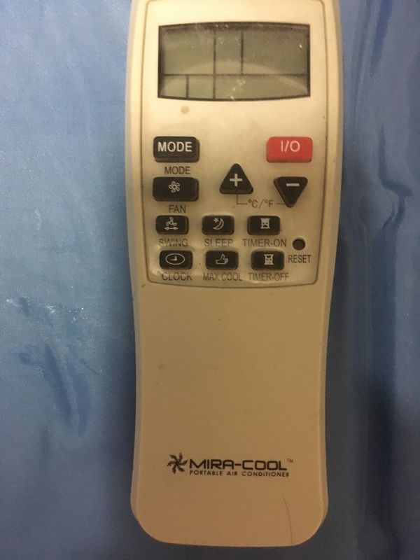 mira cool remote control for portable a c conditioners for sale in
