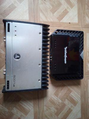 Photo Rockford fosgate500/1 bdcp amplifier and jl audio 500/1 v2