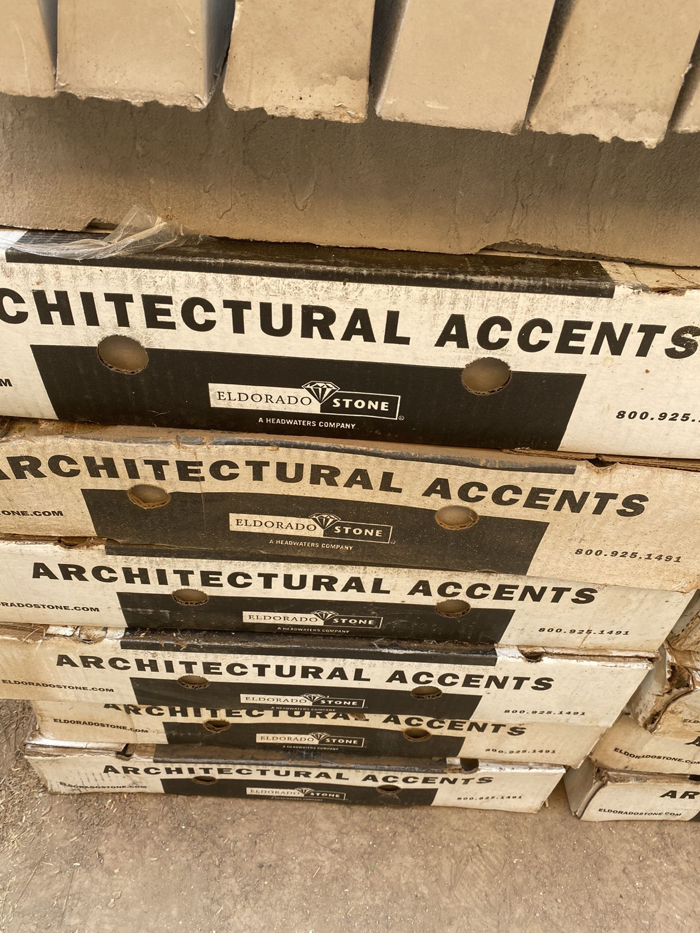 NEW 16 BOX THE ARQUITECTURAL ACCENTS STONE PERFECT CONDITION EVERY BOX HAVE 7 PIECES