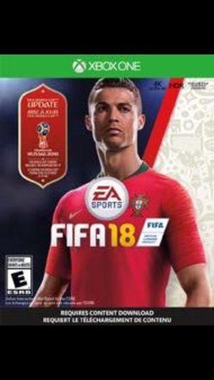 FIFA 18 XBOX ONE CD. for Sale in Arlington, VA