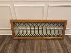Vintage leaded glass transom window for Sale in Apex, NC