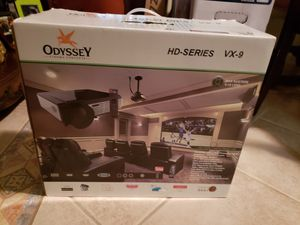 Odyseey HD Series VX-9 Projector, Projector screen, and surround sound system! for Sale in Houston, TX