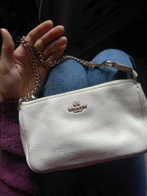 33e39bceaa Cream Coach Leather Mini Purse   Clutch for Sale in Puyallup