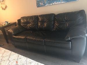 Faux leather couch! for Sale in Herndon, VA