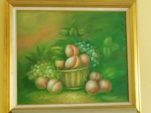 Peaches 3 by 3 ft Framed Oil Painting on Cavas for Sale in Washington, DC