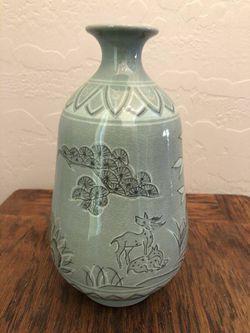 Authentic Original Korean Celadon Vase Thumbnail