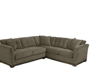 Microfiber 2-piece sectional sofa couch seat for Sale in Baltimore, MD