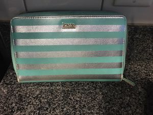 Kate Landry Large Wallet Mint Striped for Sale in Apex, NC