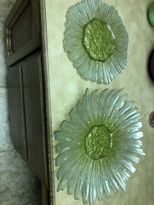 Green glass platter for Sale in Scottsdale, AZ