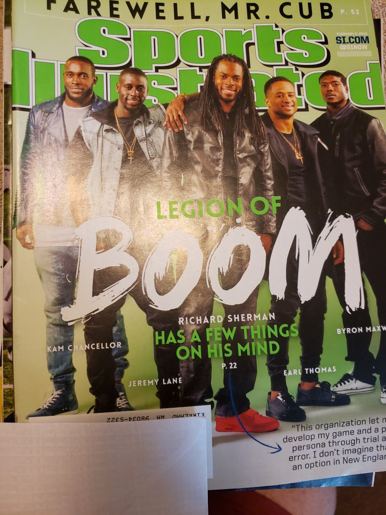 Seahawks SI's and Super Bowl Program,
