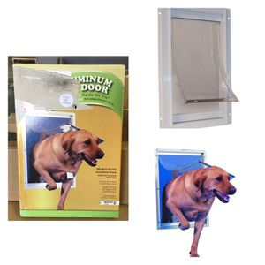 Photo 10.5 in. x 15 in. Extra Large Deluxe Aluminum Frame Dog and Pet Door