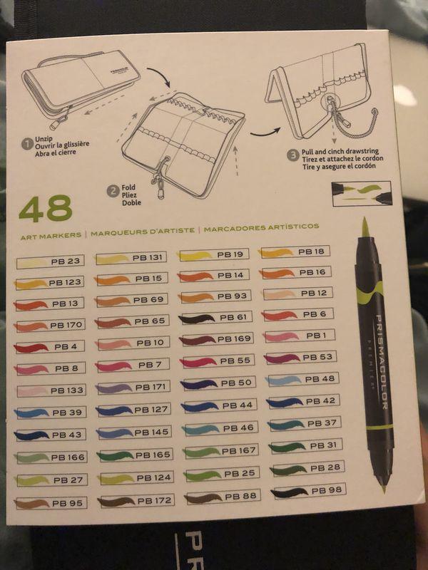 Prismacolor Premier 48 Count Marker Set Brush And Fine Tip