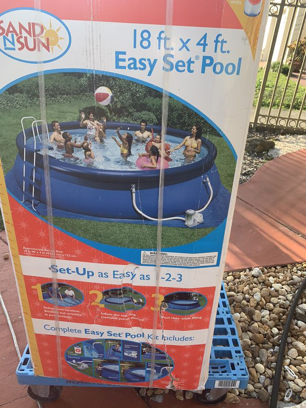 Above Ground Pool 18 Feet All Around 4 Feet Deep For Sale