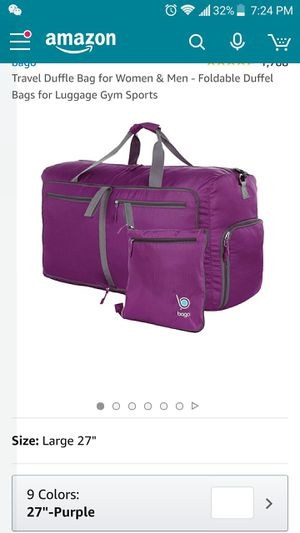 Purple duffle bag new for Sale in Daly City, CA