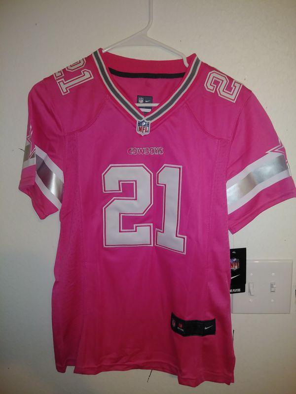 Dallas Cowboys Ezekiel Elliott Women s Pink Medium Jersey for Sale ... d4c4ba91e