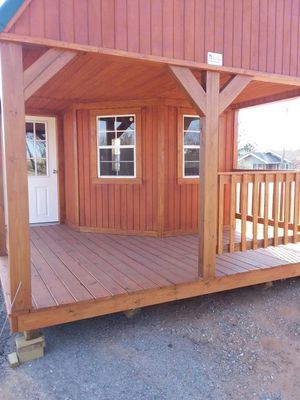 12x40 deluxe lofted porch cabin for Sale in Harrah, OK - OfferUp