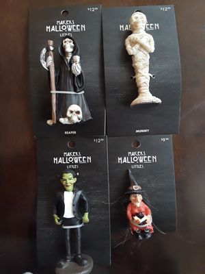 Spooky Decorations (Grim Reaper, Mummy, Frankenstein, and a Witch) for Sale in Bell Gardens, CA
