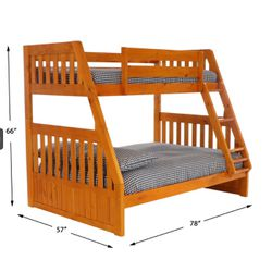BUNL BED FULL OVER TWIN NEW WITH MATTRESS INCLUDED NEW Thumbnail