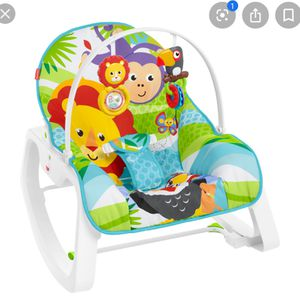 Photo Fisher price, baby rocker turns into toddler chair