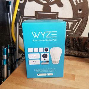 Photo Wyze Smart Home Starter Bundle Includes Camera, Contact Sensor (2), Motion Sensor, Bulb (3), Plug (2), SD Card in each set