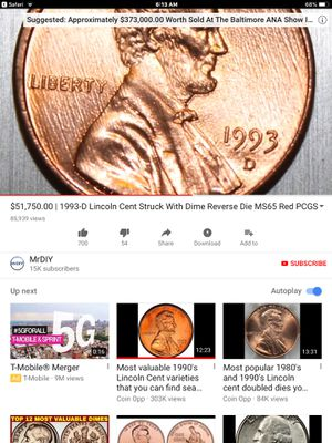 1993 D Lincoln Penny doubled die Error (((VALUE))) for Sale