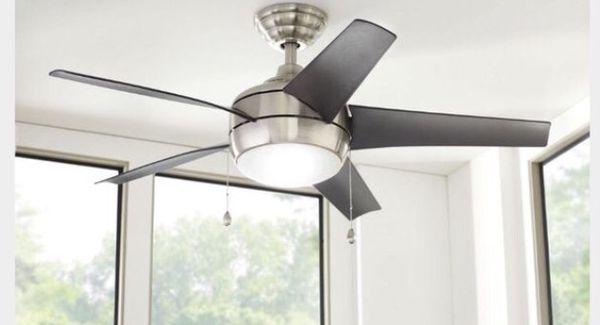 Home Decorators Collection Windward 44 In Indoor Brushed Nickel Ceiling Fan St Louis