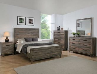 Tacoma Rustic Brown Panel Bedroom Set 👉$39 DOWN payment only 100 days same as cash Thumbnail