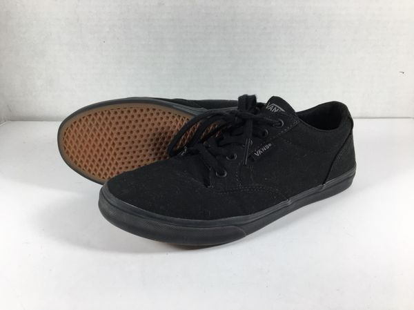 Solid Black Vans Off The Wall Sneaker Shoes Size Women s 7.5 for ... b618c69cbe
