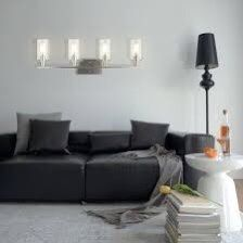 4-Light Wall Sconce With Clear Glass Shade Thumbnail