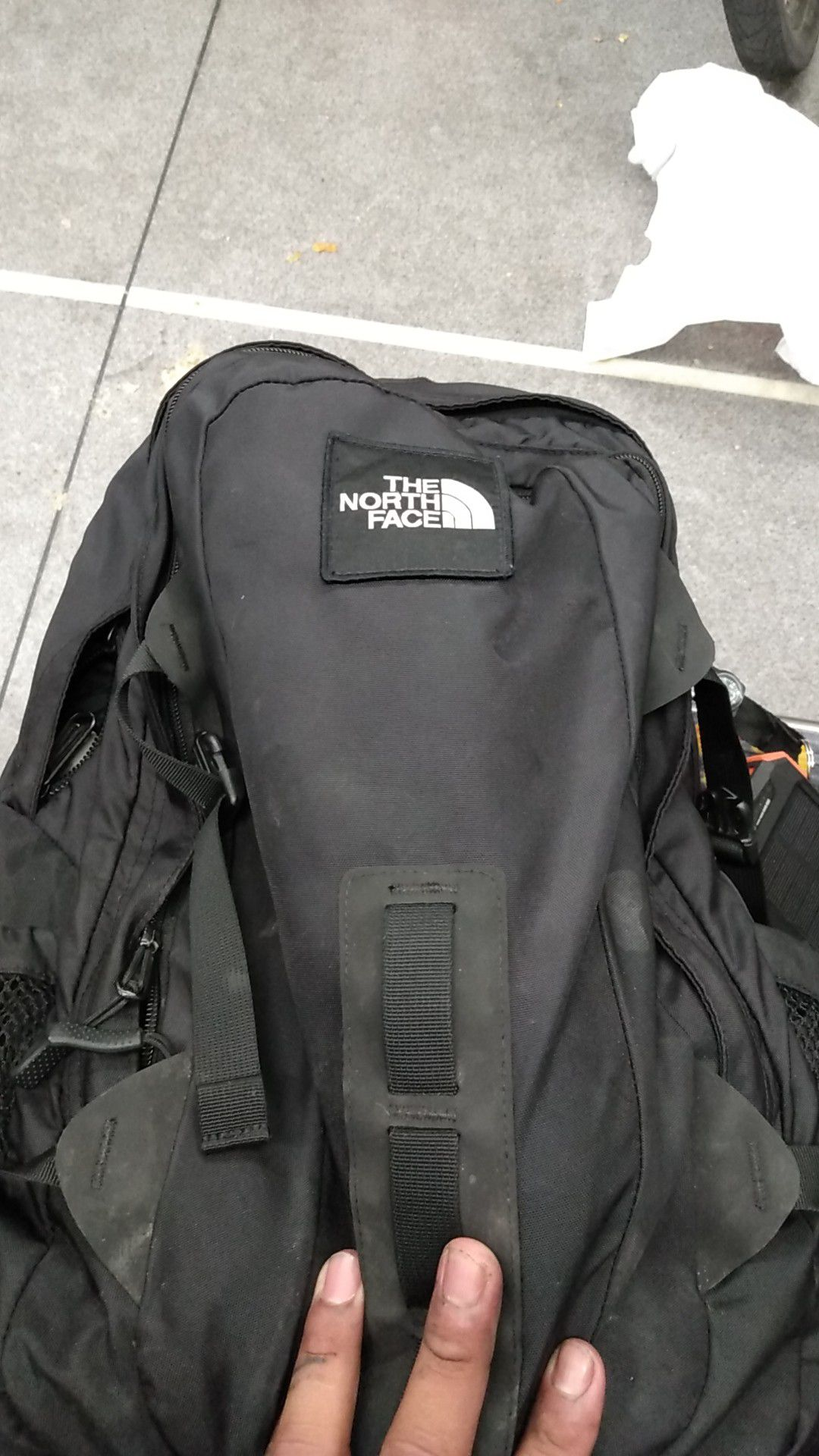 North face back pack not to big or to small perfect for bike riding hikeing