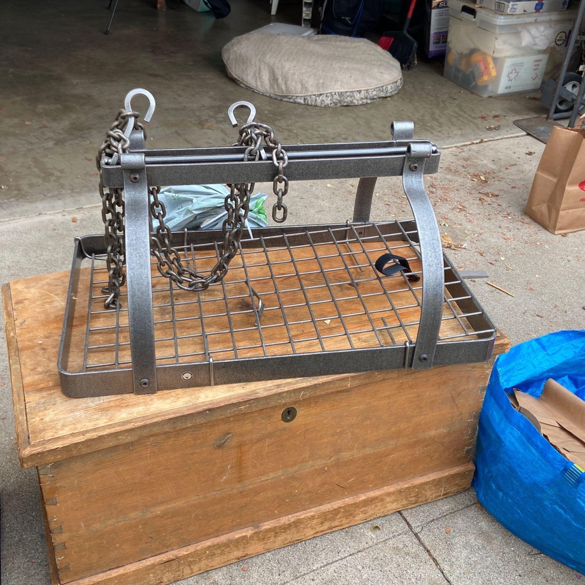 Restoration Hardware Pot Rack