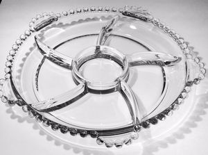 Candlewick Imperial 4-Part Relish Dish Clear Crystal Glass for Sale in Crofton, MD