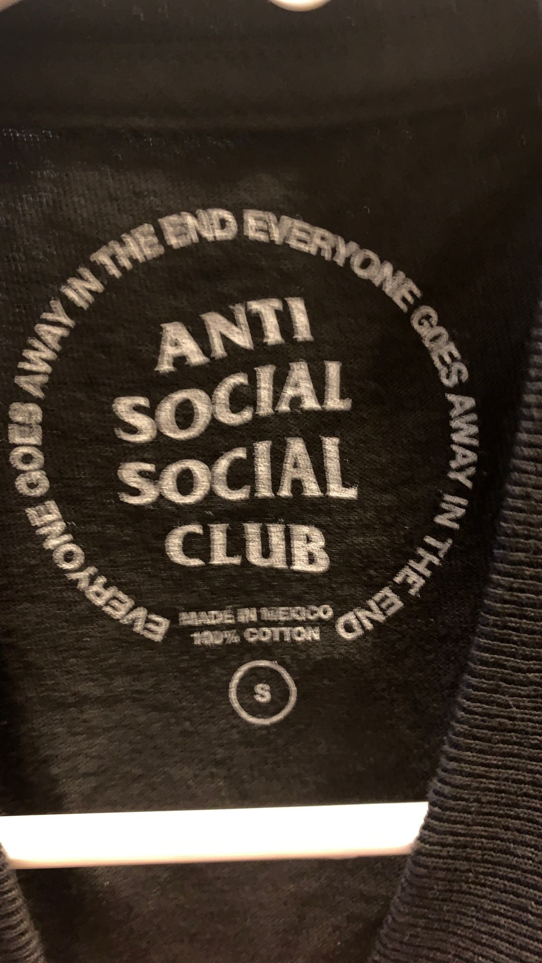 Authentic anti social shirt small
