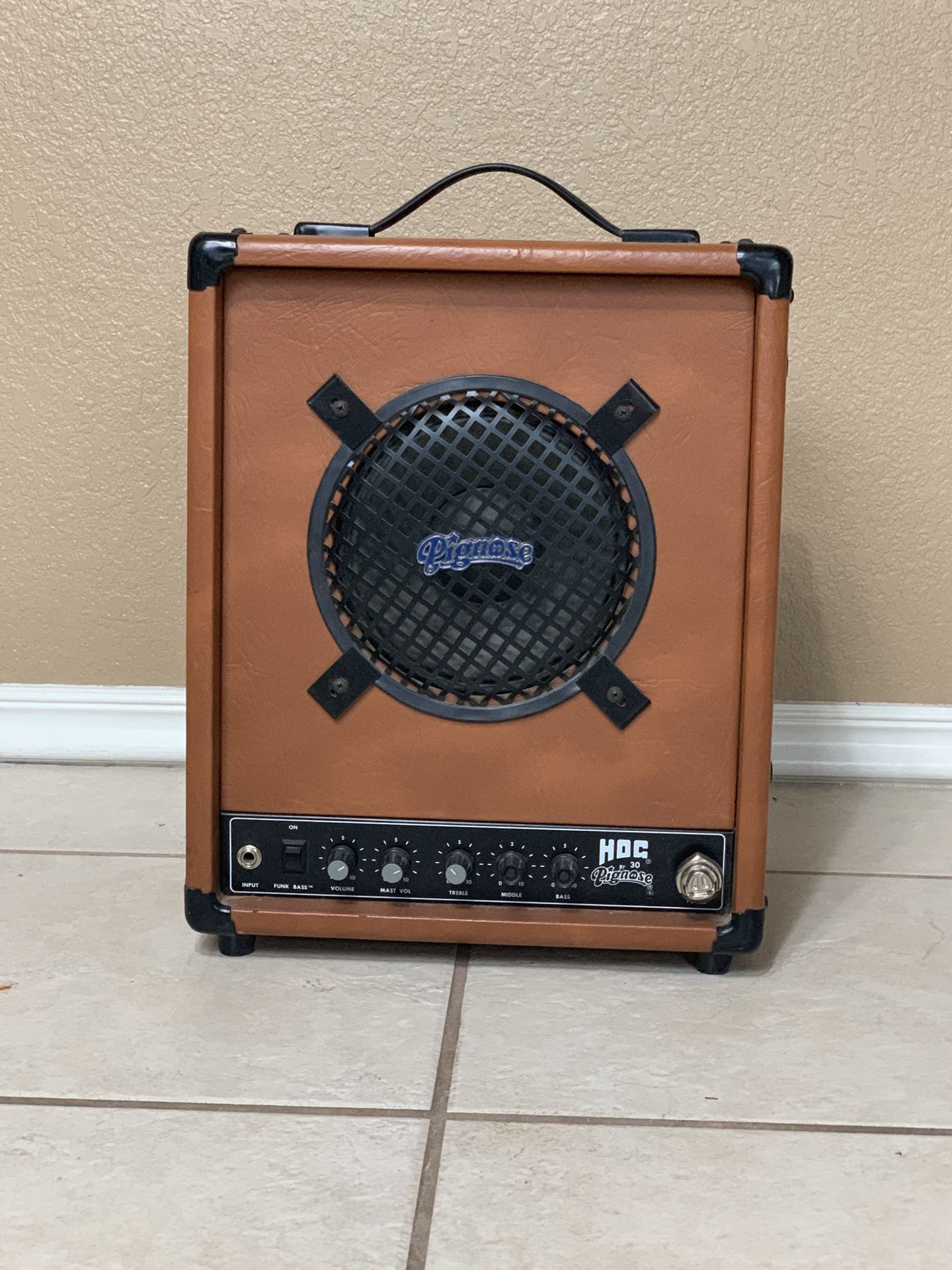 HOG 30 By PIGNOSE - BASS GUITAR AMPLIFIER *LIKE NEW* | Missing POWER Cord