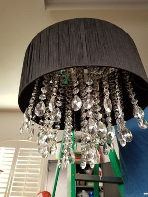 Black and crystal chandelier for Sale in DW GDNS, TX