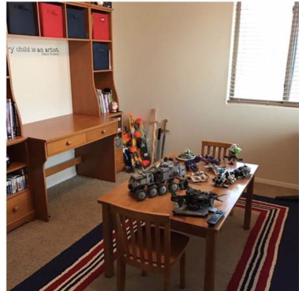Pottery Barn Cameron Wall Unit With Desk For Sale In