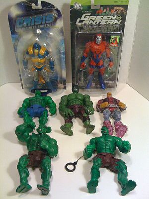 NEW RARE DC MOC ANTI-MONITOR GREEN LANTERN MANHUNTER INCREDIBLE HULK MONGUL LOOSE VERY GOOD CONDITION LOT SET ACTION FIGURES TOYS MINT for Sale in Phoenix, AZ