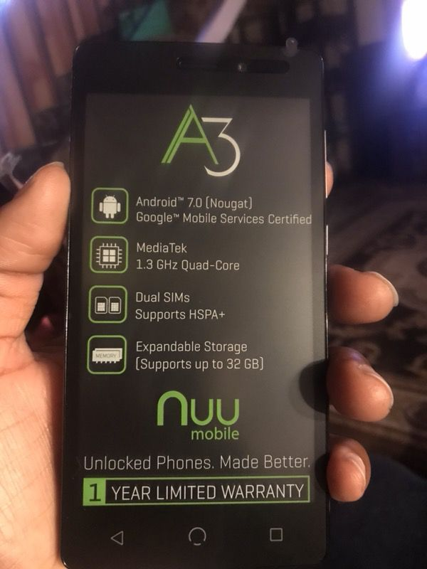 Free 5in phones A3 Nuu for Sale in Stockton, CA - OfferUp