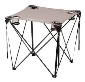Ozark Trail Quad Folding Table with Cup Holders, Grey color j7-1656 for Sale in St. Louis, MO