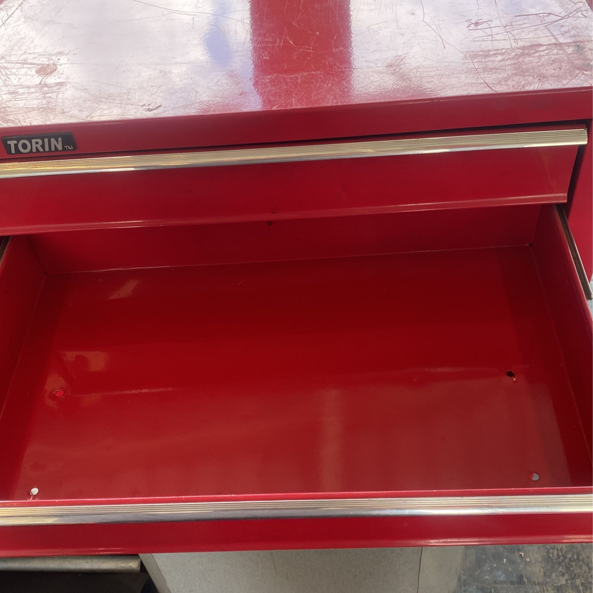 Tool Box Only Top Locks And It Has One Key