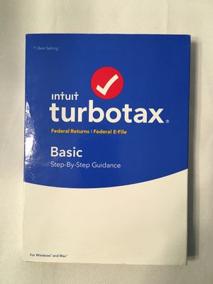 New Turbo Tax Basic 2017 for Sale in Raleigh, NC
